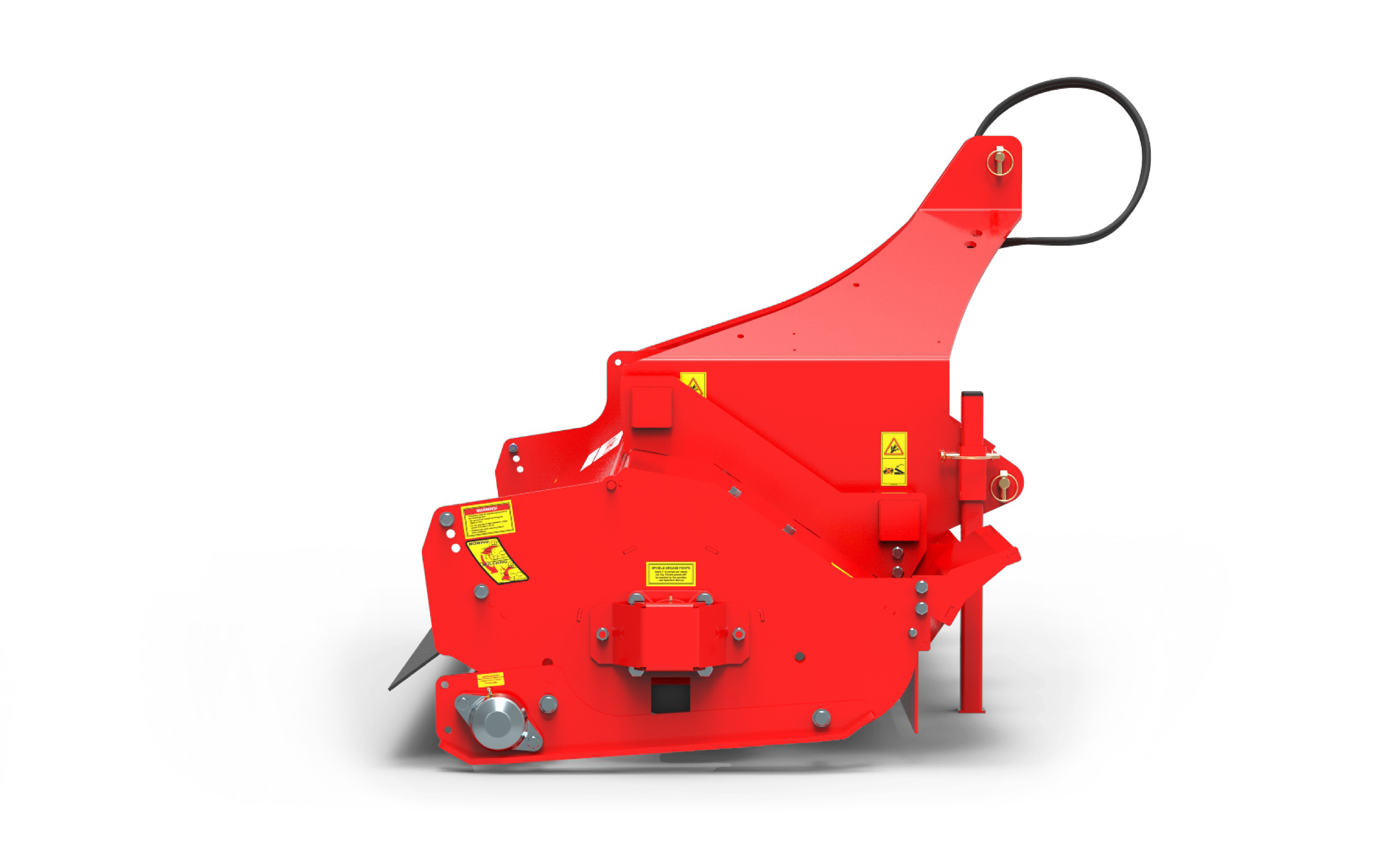 Warlord S3 lawn mower sideview red